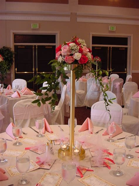 Head Table Centerpieces   Reception Decorations Photo