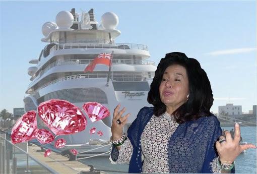 Image result for Rosmah Mansor  pink  Diamond Ring