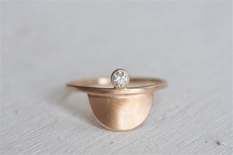 5 minimal Engagement rings under 1k   etsy love