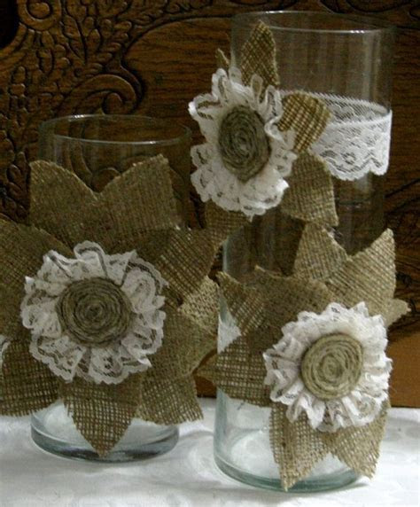 Best 25  Burlap centerpieces ideas on Pinterest   Babies