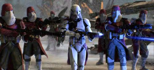 Commander Bacara and his troops turn on Jedi Master Ki-Adi-Mundi in 'Revenge of the Sith'.