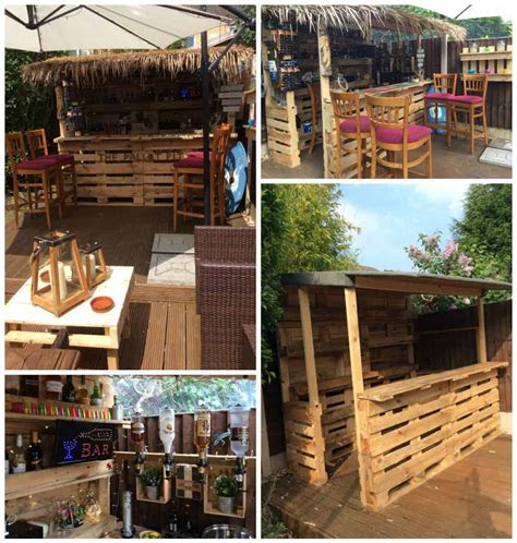 outrageous pallet bar    reclaimed pallets