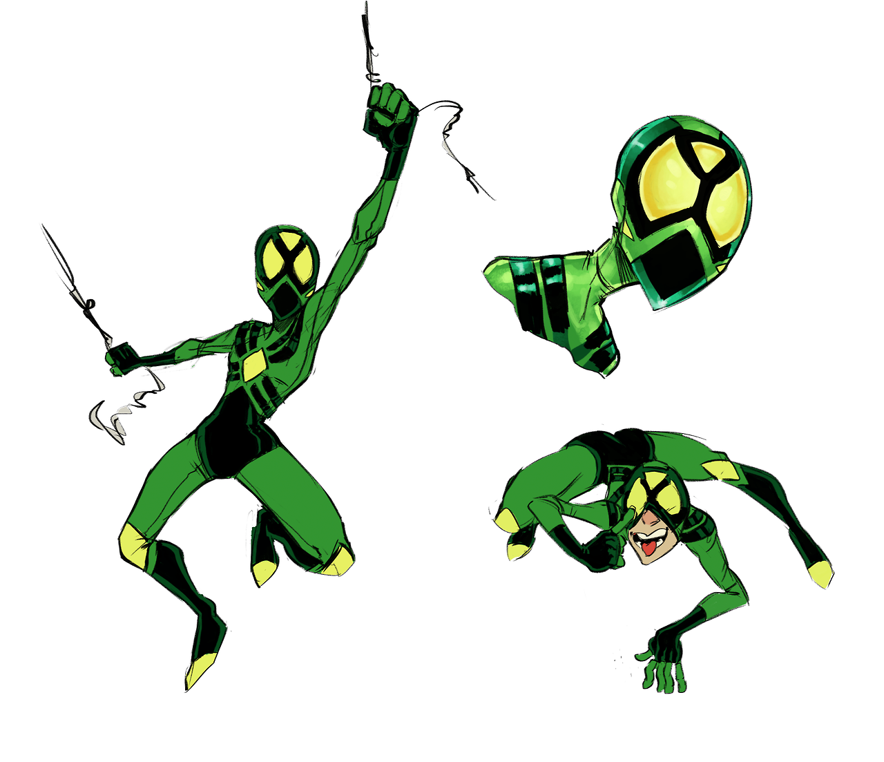 More Spider-dot doodles! And a… mysterious suit that came out of nowhere…