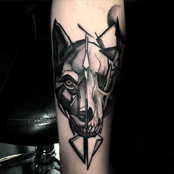 60 Animal Skull Tattoo Designs For Men Wild Ink Ideas