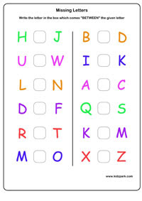Lkg English Capital Missing Letters Worksheet Kindergarten
