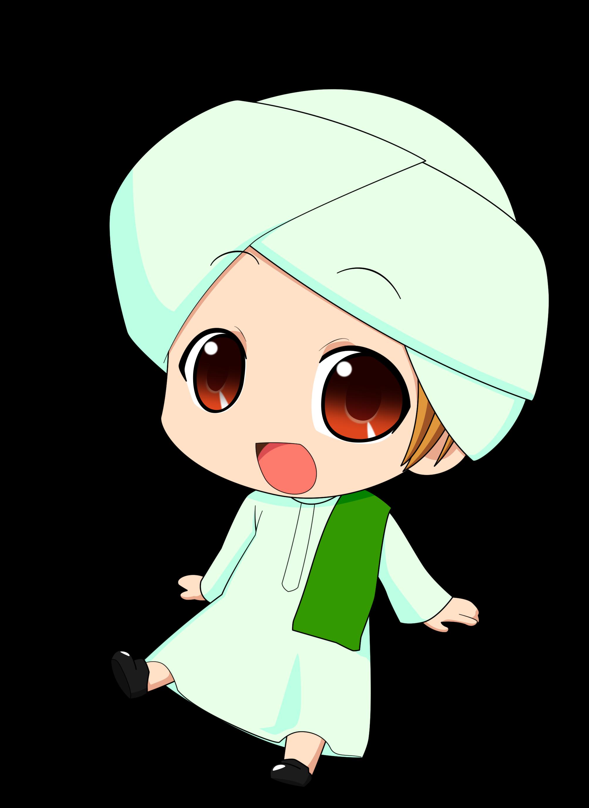 Gambar Kartun Muslimah Chibi Top Gambar