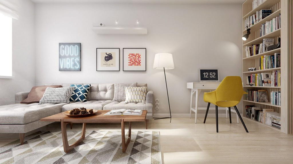A Midcentury Inspired Apartment With Scandinavian Tendencies