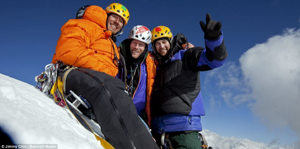 Jimmy Chin, Conrad Anker and Renan Ozturk