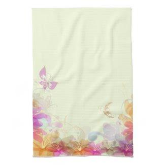 Rainbow Pastel Florals Hand Towel