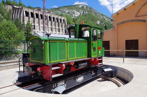 Màquina de tren al Clot del Moro