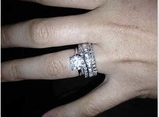 Show me your solitaire rings with an eternity diamond wedding band please.   Weddingbee   Page 3
