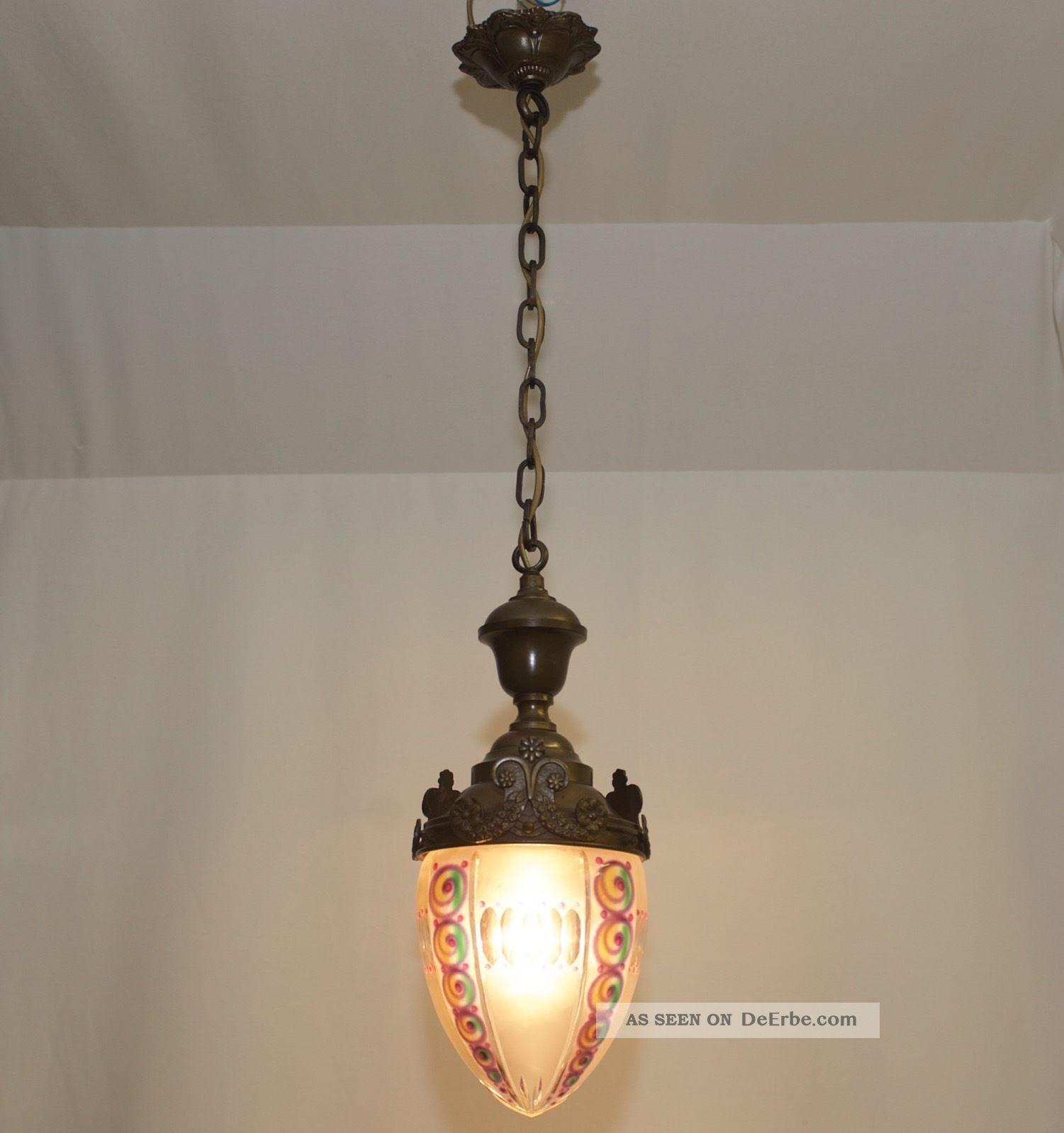 rarität um 1920 art deco nouveau lampe deckenlampe