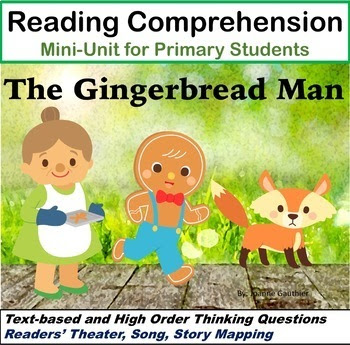 Gingerbread Man - Reading Comprehension Unit