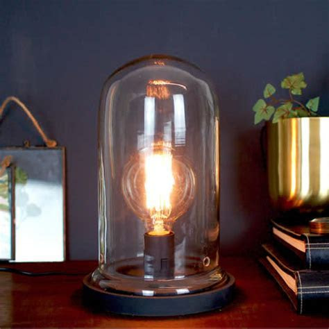 Vintage Desk Table Cloche Glass Bell Lamp By Made With Love