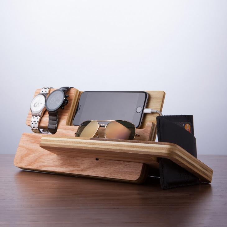 Деревянные органайзеры для гаджетов