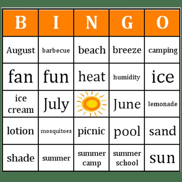 Car bingo sheets