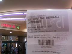 HIFF The Bengali Detective Movie ticket
