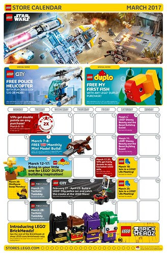 LEGO March 2017 Store Calendar Promotions & Events - The Brick Fan ...
