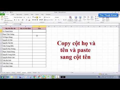 Thủ Thuật Excel 2 Cách tách Họ Và Tên trong Excel[Video]