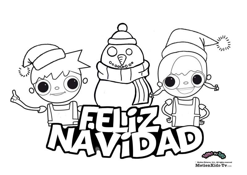 Dibujos Para Colorear De Navidad Con Nuestros Amigos De Dibujos