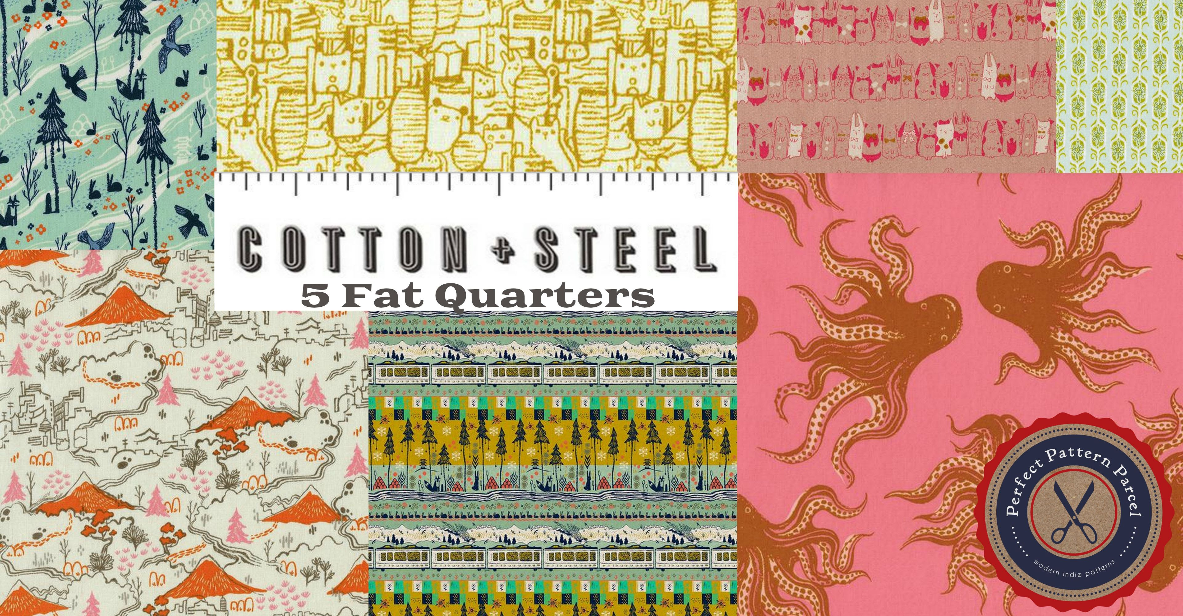 Win a pack of Cotton & Steel Tokyo Train Ride fat quarters from Perfect Pattern Parcel and Sew, Mama, Sew