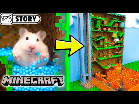Labirinto de Hamster Vertical - Mundo De Minecraft