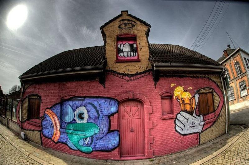 A vila condenada de Doel e sua arte de rua surpreendente 05