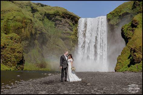 Skogafoss Waterfall Wedding Photos: Iceland Wedding