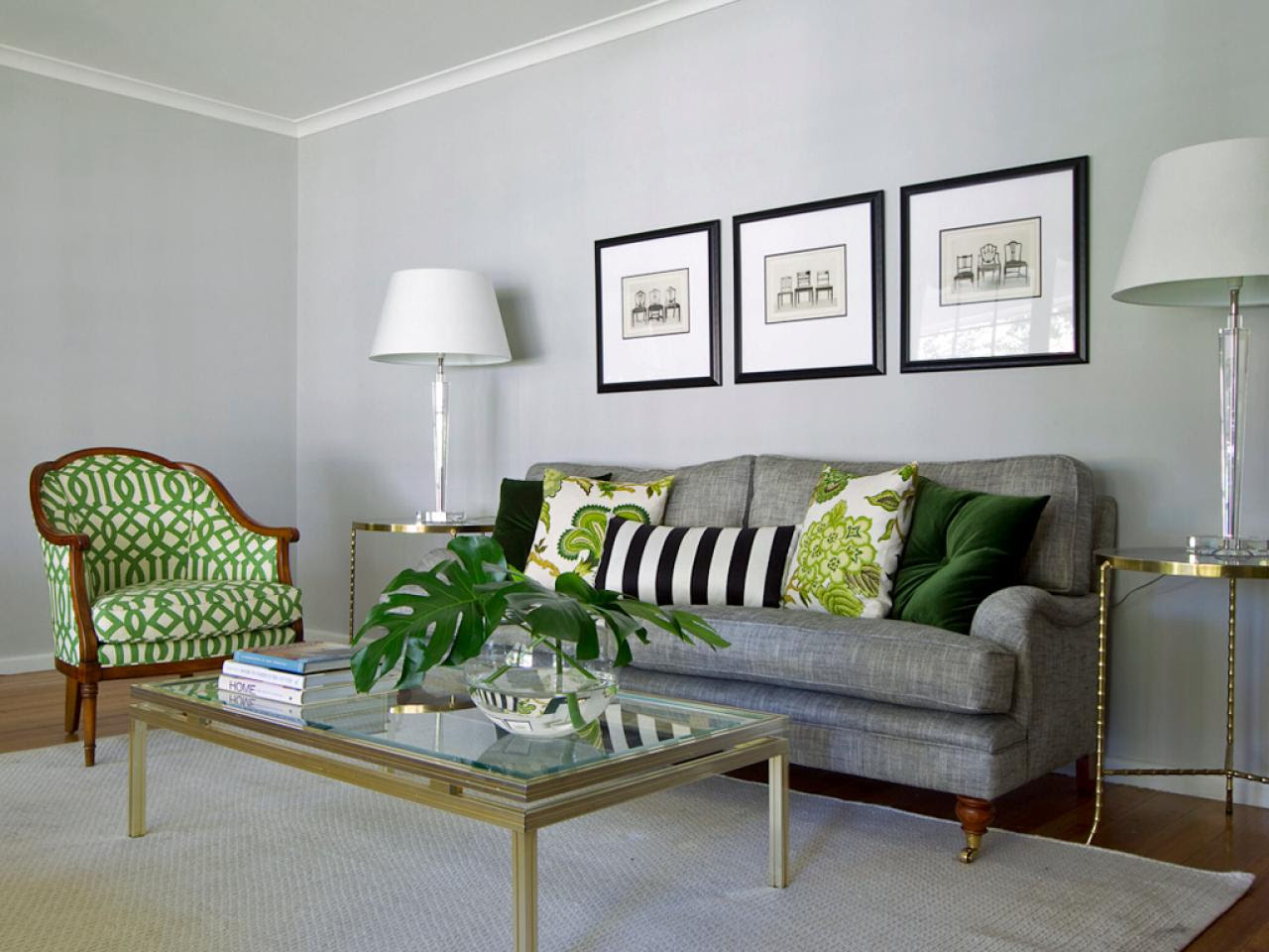 Vibrant Green And Gray Living Rooms Ideas - Interior Vogue