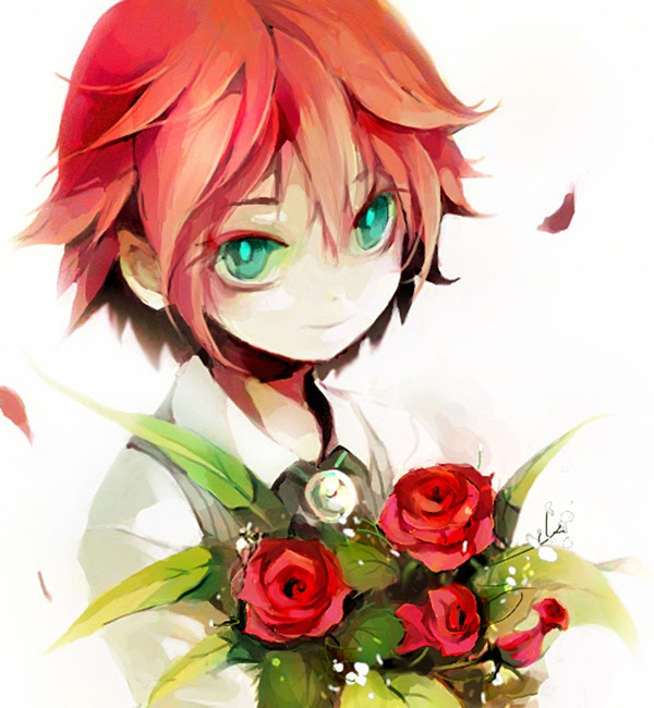 Anime Boy Orange Hair Green Eyes The Best Undercut Ponytail