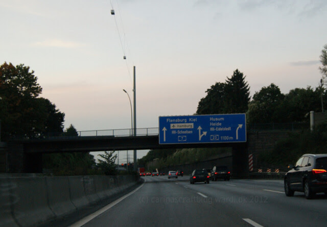 Alright, signs for Flensburg - we're getting nearer!