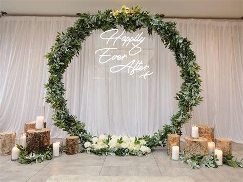Neon Wedding Backdrop, Chesterfield   Keith Woods Weddings