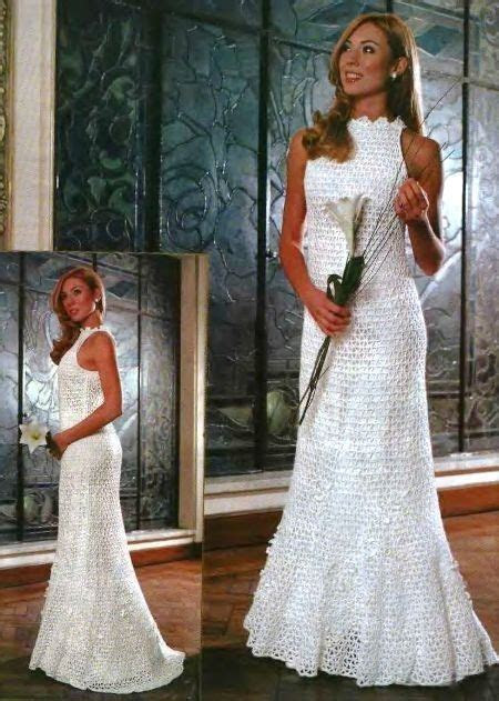 Free crochet pattern. Russian crochet wedding dress, with