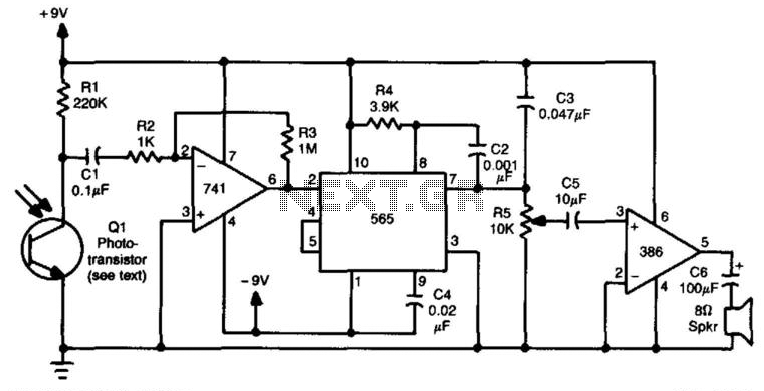 Pulse-Frequency Modulated Receiver - schematic