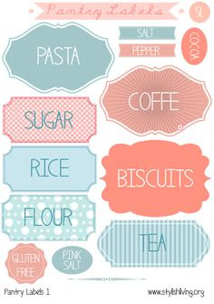Free pantry printable labels by @liag including spice jar labels ...