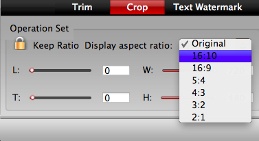 crop videos