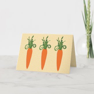 Gingham Carrot Card card