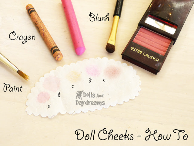 How to make doll cheeks