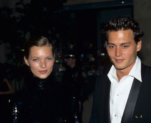 LE FASHION BLOG JOHNNY DEPP KATE MOSS JOHNNY AND KATE INSPIRATION EVENT BLACK SEQUIN TURTLE NECK DRESS 90S MINIMAL 18