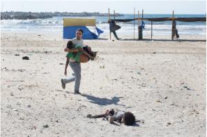 חוף עזה לאחר הפצצה