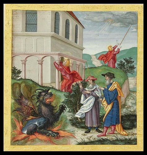 dragon scene from Ottheinrich's Bible 1530-1532