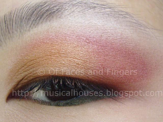 sunset orange red eye look 3