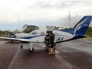 Após roubar ouro de garimpo, bando fugiu de avião. (Foto: Reprodução/ TV Tapajós)