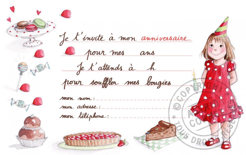 Invitation Anniversaire Fille 10 Ans A Imprimer Gratuit - Beatris