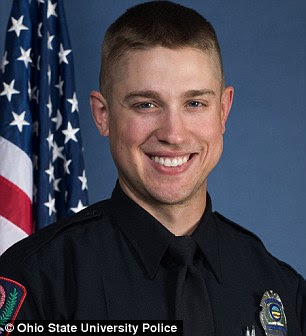 OSU police officer Alan Harujko, 28, (pictured) shot Artan dead just a minute into the student's attack