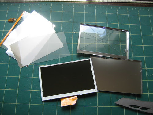 LCD Disassembly - 4 - Diffuser sheets