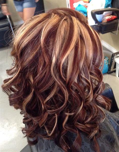 auburn color  blonde highlights  melissa  southern