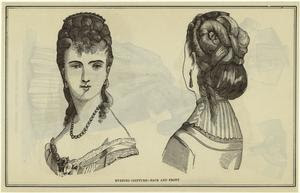 Evening coiffure -- back and f... Digital ID: 825114. New York Public Library