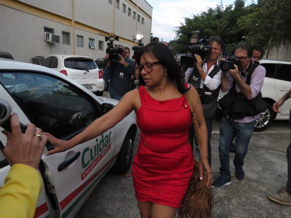 Técnica de enfermagem não falou com a imprensa (Foto: Bruno Albernaz/G1)