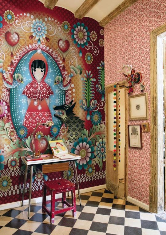 Illustration Bedroom Wallpaper Archives - Interior Design Ideas